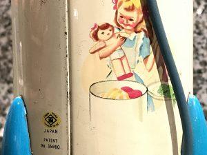 Japanische Blechspielzeug-Waschmaschine aus den 1960er Jahren
