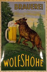 Brauerei WOLFSHÖHE - Der biertrinkende Wolf, ein Klassiker