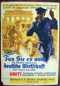 UNITI Plakat um 1927/35