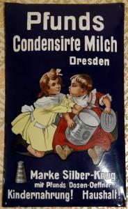 PFUNDS Condensirte Milch Dresden - um 1900
