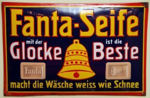 Fanta Seife mit der Glocke - Emailleschild um 1930