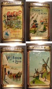 BOON's Cacao - kleine Blechdose um 1900