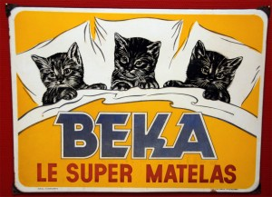 BEKA - Super Matelas - Emailleschild aus Belgien