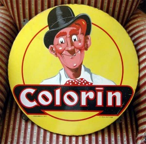Colorin, seltenes Motivschild, Belgien