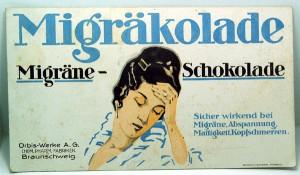 MIGRAKOLADE - Migräne-Schokolade, um 1900