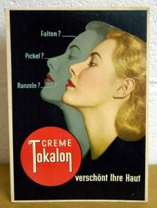 TOKALON - Falten, Pickel, Runzeln? - Creme - Aufsteller